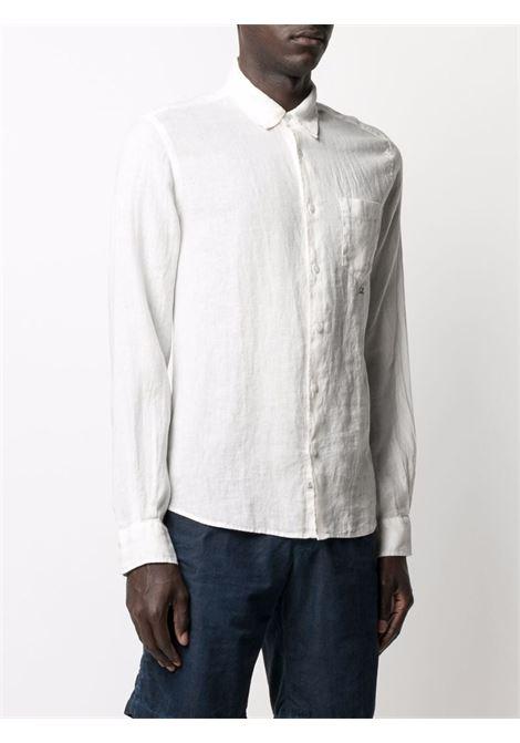 C.P. Company embroidered logo shirt man white C.P. COMPANY | Shirts | 10CMSH309A005415G103