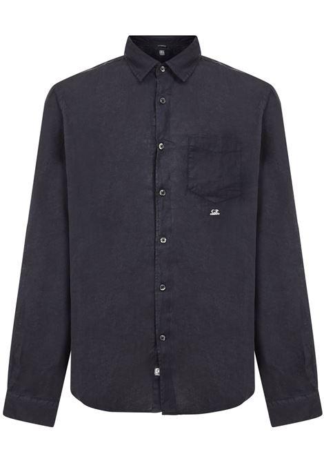 C.p. company embroidered logo linen shirt man C.P. COMPANY | Shirts | 10CMSH309A005415G888
