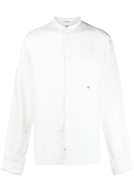 C.P. Company embroidered logo shirt man white C.P. COMPANY | Shirts | 10CMSH311A005415G103