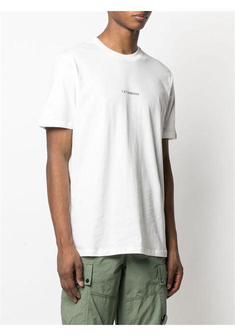 C.P. Company t-shirt con logo stampato uomo bianco C.P. COMPANY | T-shirt | 10CMTS213A006011W103