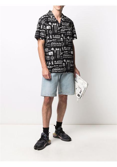 Camicia con stampa nera uomo cotone DICKIES | Camicie | DK0A4XA6BLK