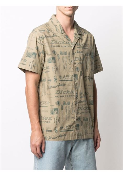 Camicia con stampa beige uomo cotone DICKIES | Camicie | DK0A4XA6KHK