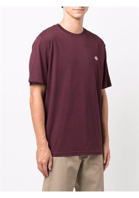 T-shirt con logo Bordeaux in Cotone Uomo DICKIES | T-shirt | DK0A4XDBMR01