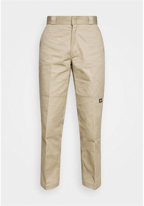 Dickies straight leg trousers man beige cotton DICKIES | Trousers | DK85283XKHK