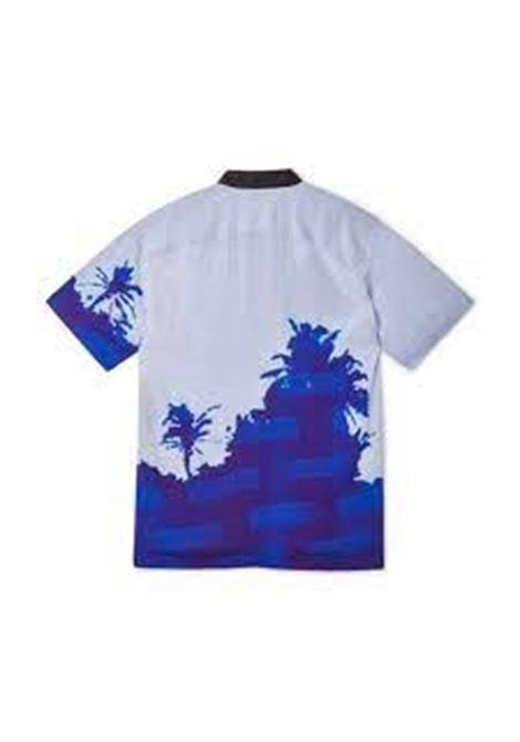 printed shirt man in viscose DRIES VAN NOTEN | Shirts | CASSIDY2003BLUE