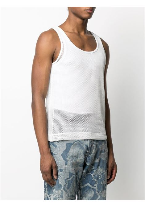 Dries Van Noten canotta in rete di cotone uomo DRIES VAN NOTEN | T-shirt | HALK2616WHITE