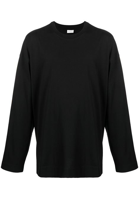 Dries Van Noten hegland t-shirt manica lunga uomo DRIES VAN NOTEN | T-shirt | HEGLAND2603BLACK