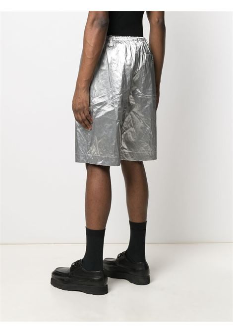 Dries Van Noten metallic shorts man silver DRIES VAN NOTEN | Shorts | PENNY2158SILVER