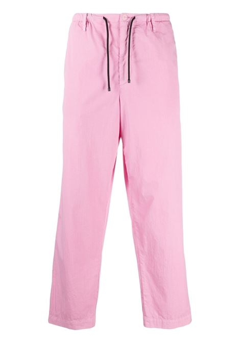Dries Van Noten drawstring straight leg trousers man pink DRIES VAN NOTEN | Trousers | PENNY2279PINK