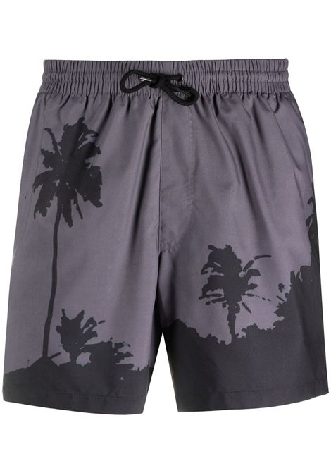 Dries Van Noten costume con stampa uomo DRIES VAN NOTEN | Costumi da bagno | PHIBBS2237GREY