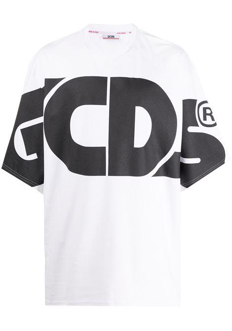 Gcds t-shirt con logo macro uomo GCDS | T-shirt | CC94M02100601