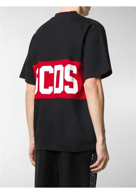 Logo tee black man cotton GCDS | T-shirts | CC94M02101402