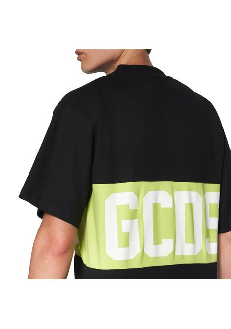 T-Shirt Logo Nera Uomo Cotone GCDS | T-shirt | CC94M021014MX