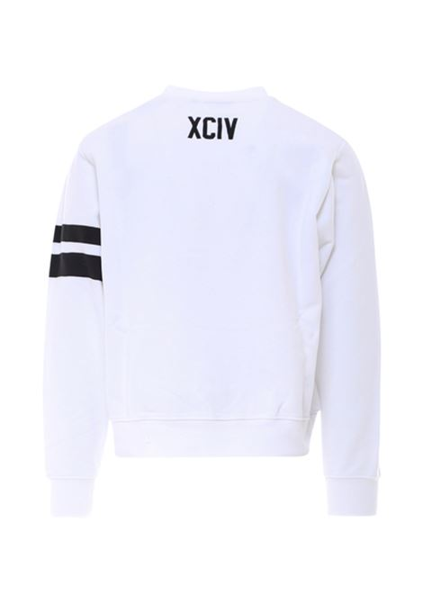 Logo sweatshirt white man cotton GCDS | Sweatshirts | CC94M02103101