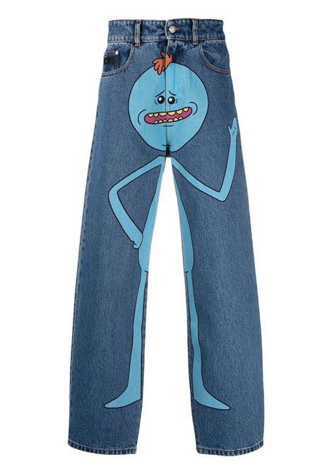 Gcds print jeans man denim GCDS | Trousers | RM21M03020007