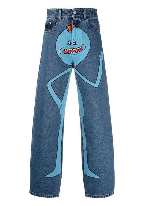 Print jeans man denim cotton GCDS | Trousers | RM21M03020007