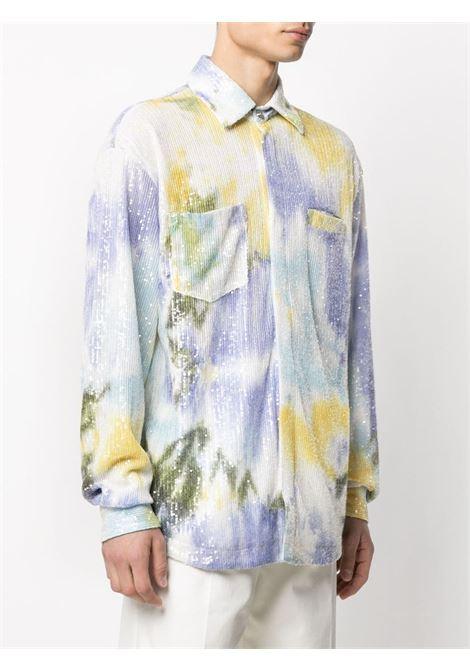 TIE-DYE SHIRT GCDS | Shirts | SS21M040111MX