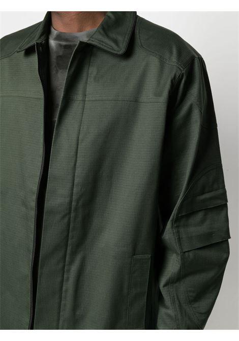 Gr10k zip up cotton windbreaker jacket man green GR10K | Jackets | GR007FOREST GREEN