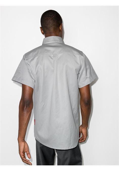 Gr10K camicia a due tasche uomo grigio GR10K | Camicie | GR011COLD GREY