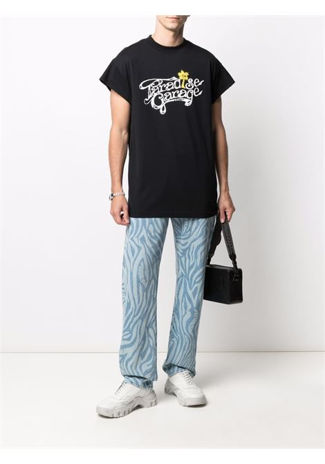 Paradise garage t-shirt man black cotton HONEY FUCKING DIJON | T-shirts | HFD03T001BLACK