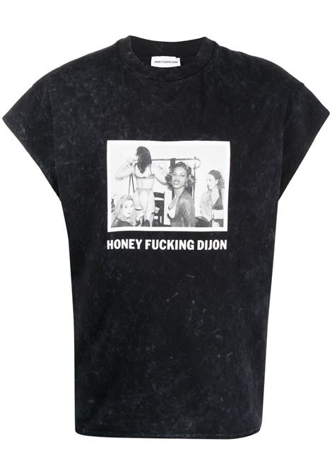 Honey Fucking Dijon print t-shirt man black HONEY FUCKING DIJON | T-shirts | HFD03T004BLACK