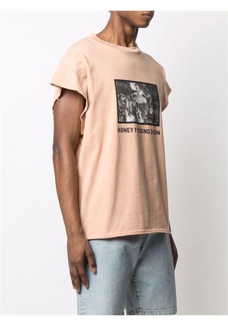 T-shirt con stampa Rosa Uomo Cotone HONEY FUCKING DIJON | T-shirt | HFD03T004PINK