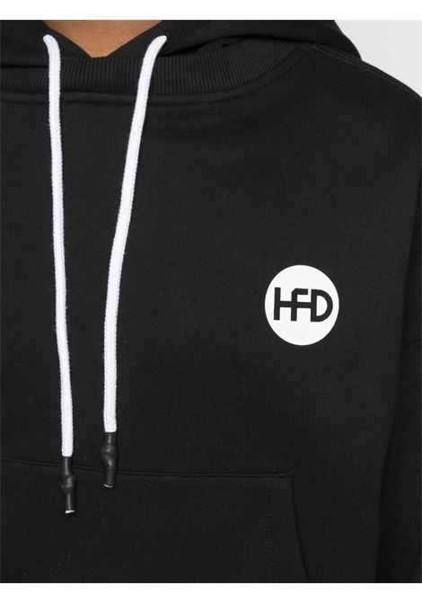 Honey Fucking Dijon felpa con logo uomo nero HONEY FUCKING DIJON | Felpe | HFD03T022BLACK
