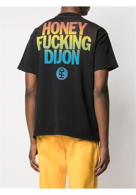 Honey Fucking Dijon print t-shirt man black HONEY FUCKING DIJON | T-shirts | HFD03T303BLACK/RAINBOW