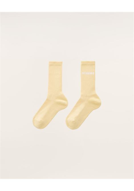 Jacquemus logo socks unisex yellow JACQUEMUS | Socks | 215AC09YELLOW