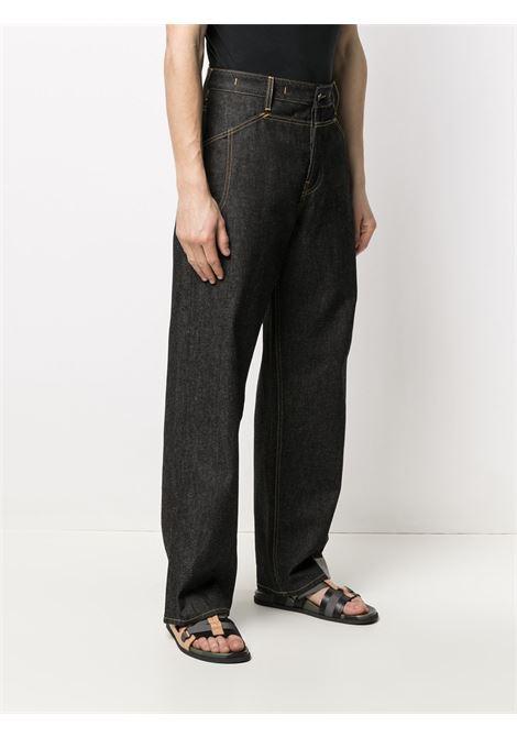 Jacquemus jeans a gamba dritta uomo JACQUEMUS | Jeans | 215DE02NAVY