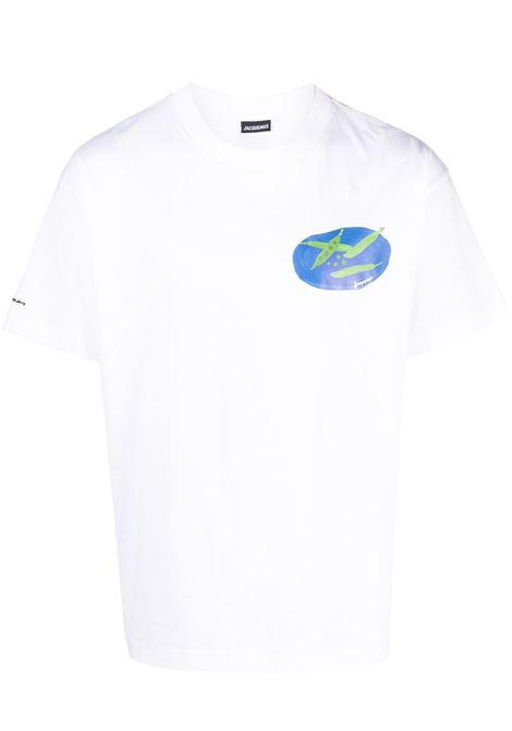 PRINT T-SHIRT JACQUEMUS | T-shirts | 215JS04WHITE