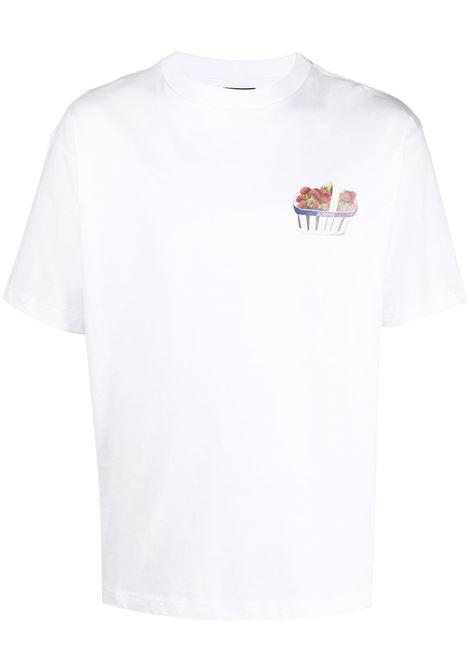 Jacquemus t-shirt con stampa uomo JACQUEMUS | T-shirt | 215JS10WHITE