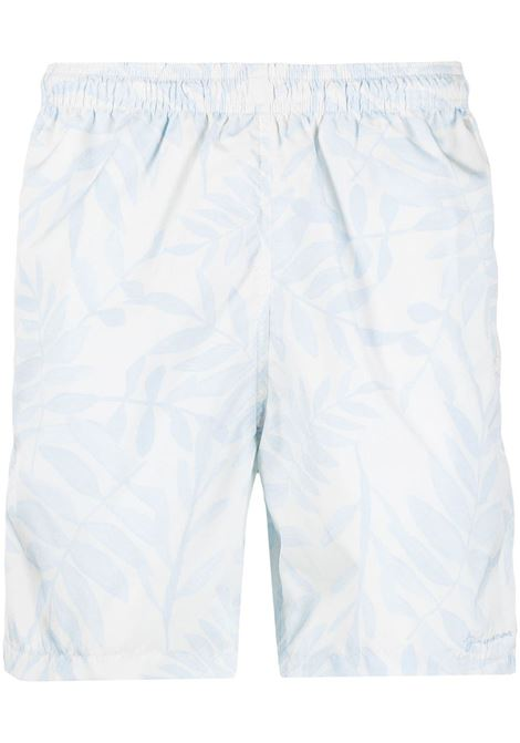 LIGHT LEAF PRINT SHORTS JACQUEMUS | Shorts | 215PA13PRINT BLUE LEAVES