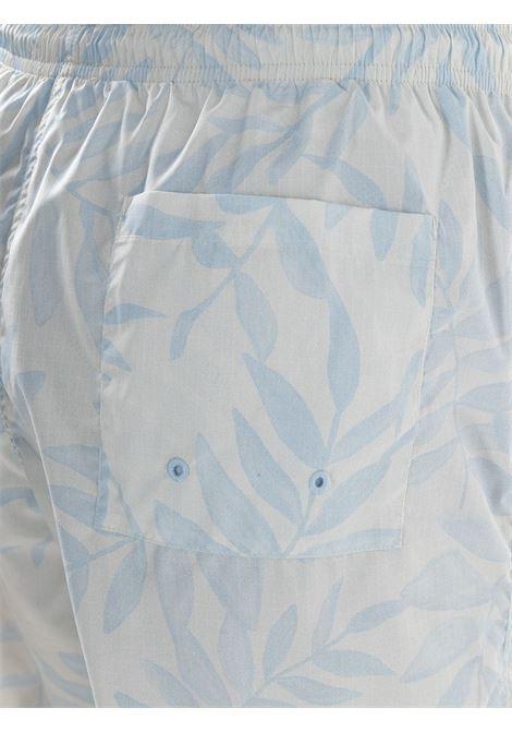 Jacquemus bermuda con stampa foglie uomo JACQUEMUS | Bermuda | 215PA13PRINT BLUE LEAVES