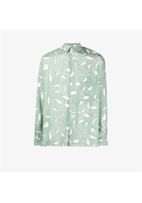 BAOU LEAF PRINT SHIRT JACQUEMUS | Shirts | 215SH02PRINT GREEN LEAVES