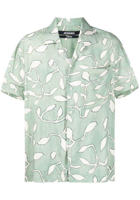 PRINT SHIRT JACQUEMUS | Shirts | 215SH21PRINT GREEN LEAVES