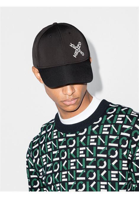 Logo hat Man Black Cotton KENZO | Hats | FA65AC221F2199