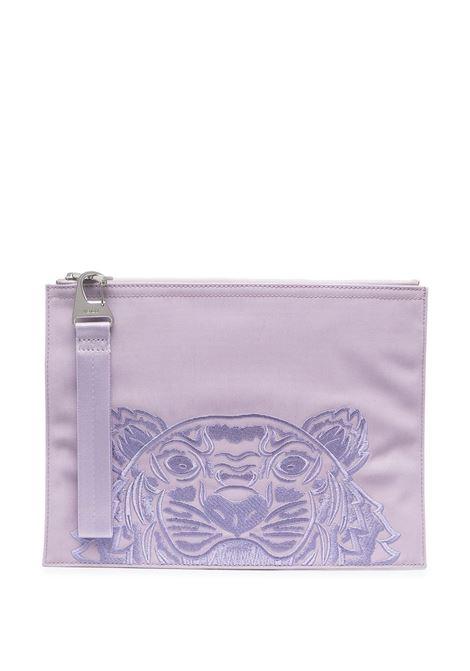 embroidered logo clutch unisex lilla KENZO | Wallets | FA65PM302F2066