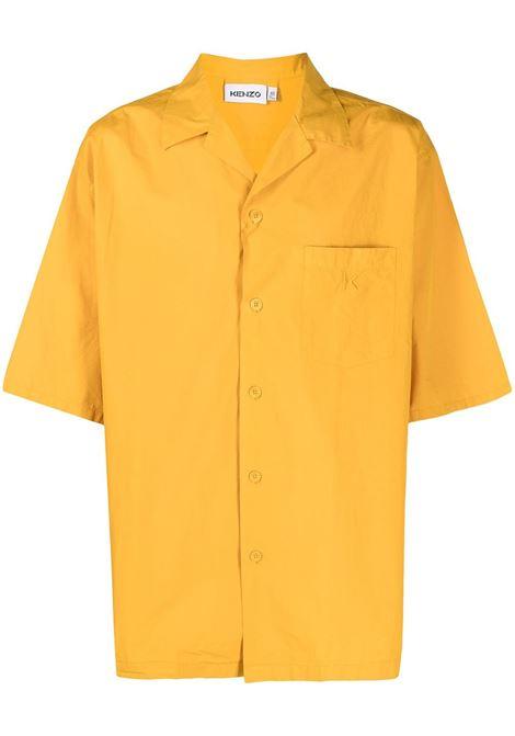 EMBROIDERED LOGO SHIRT KENZO | Shirts | FB55CH1401LA41