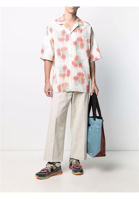 Abstract print shirt man KENZO | Shirts | FB55CH1409S419