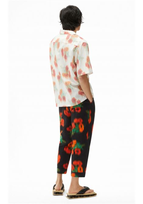 Abstract print shirt White Man KENZO | Shirts | FB55CH1409S419