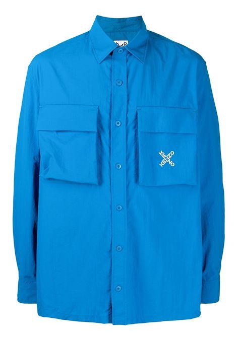 LOGO EMBROIDERED SHIRT KENZO | Shirts | FB55CH5209CO69