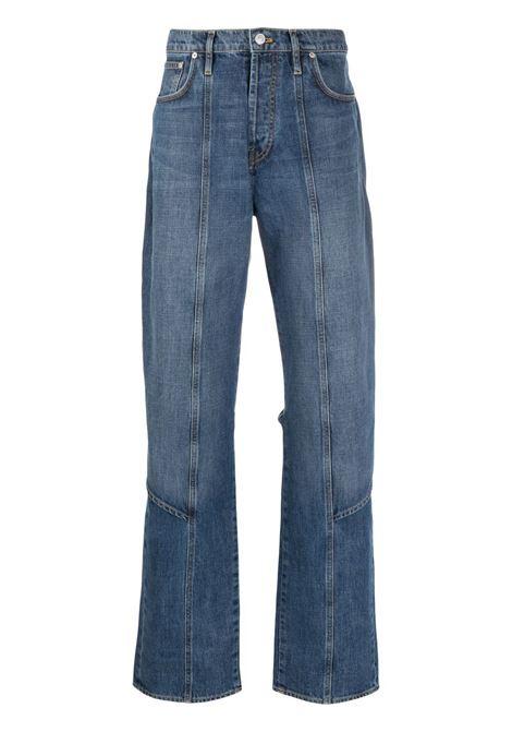 Kenzo straight leg apron jeans man blue KENZO | Jeans | FB55DP3309EA62