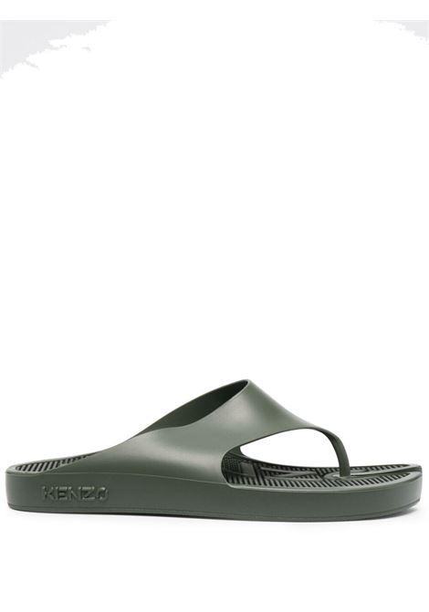 Kenzo k-beach flip flops man green KENZO | Sandals | FB55MU100P6251