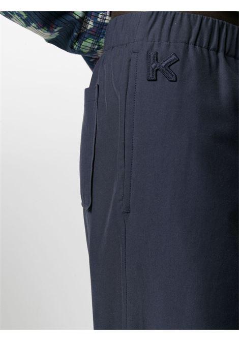 straight leg trousers man navy KENZO | Trousers | FB55PA5005AI76