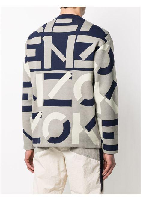 Kenzo maglione con logo a intarsio uomo KENZO | Maglieria | FB55PU5323SC95