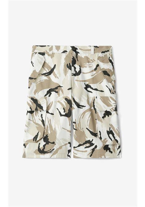 CAMOUFLAGE CARGO BERMUDA SHORTS KENZO | Shorts | FB55SH2341PC02