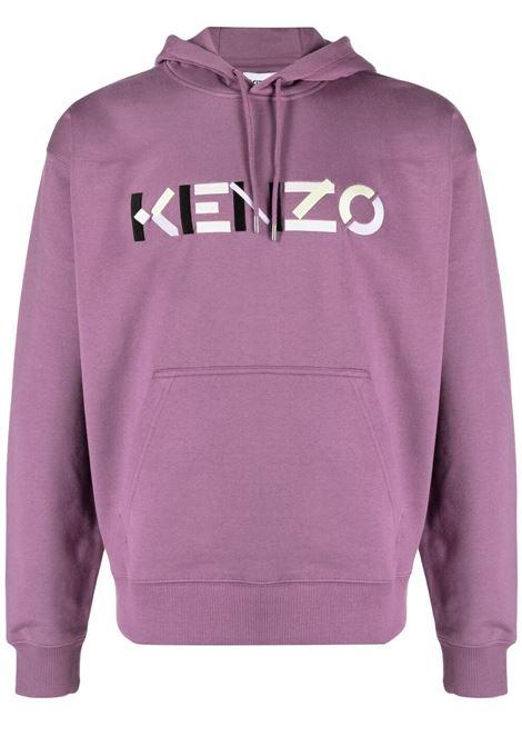 Kenzo felpa con logo uomo viola KENZO | Felpe | FB55SW5394MO82