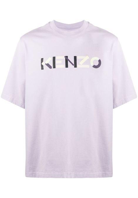 Kenzo t-shirt con logo stampato uomo rosa KENZO | T-shirt | FB55TS0554SB66