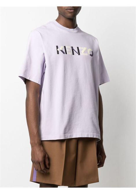 Kenzo logo print t-shirt man liliac KENZO | T-shirts | FB55TS0554SB66